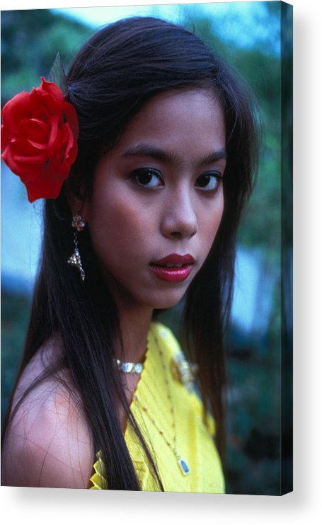 Girl Acrylic Print featuring the photograph Beautiful Thai Girl by Carl Purcell