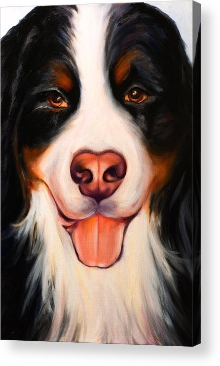 Dog Acrylic Print featuring the painting Big Willie by Shannon Grissom