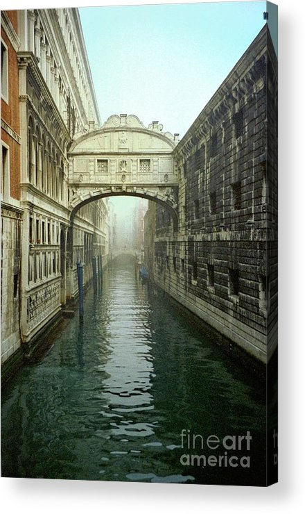 Venice Acrylic Print featuring the photograph Bridge Of Sighs In Venice by Michael Henderson