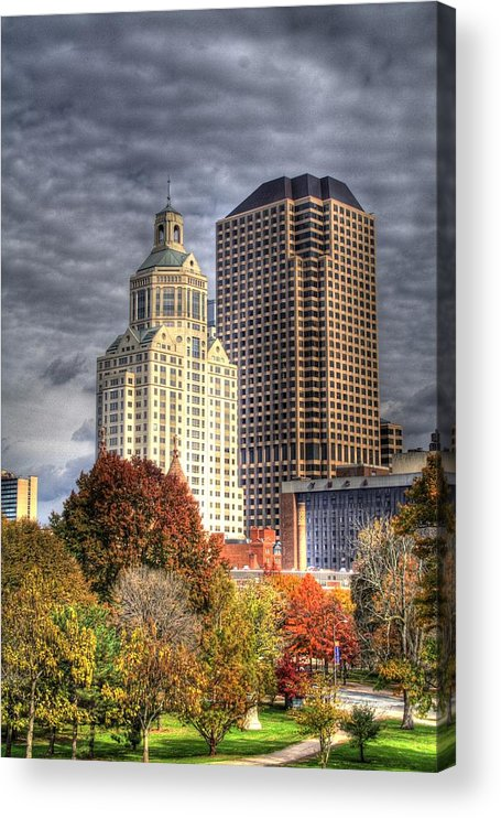 Acrylic Print featuring the photograph Bushnell Park Hartford by Sam Turgeon