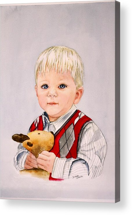Portrait Acrylic Print featuring the painting Calvin by Diane Ziemski