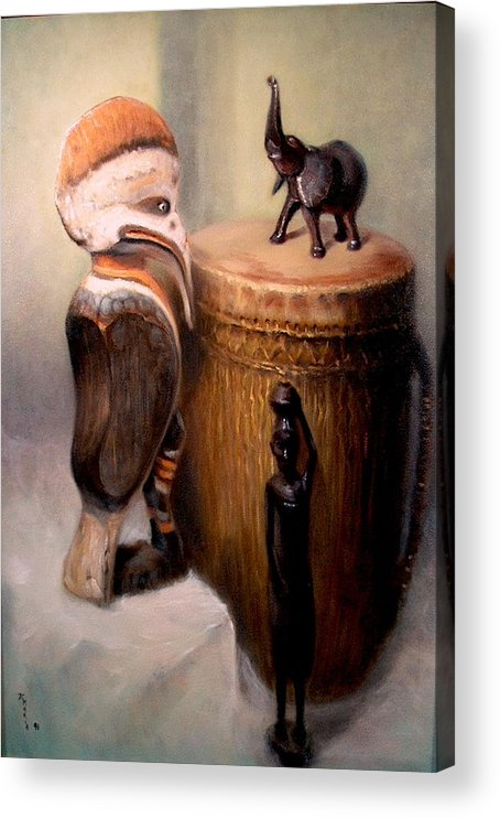 Realism Acrylic Print featuring the painting Cassowary by Donelli DiMaria