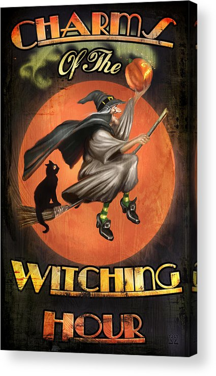 Witch Acrylic Print featuring the digital art Charms of the Witching Hour by Joel Payne