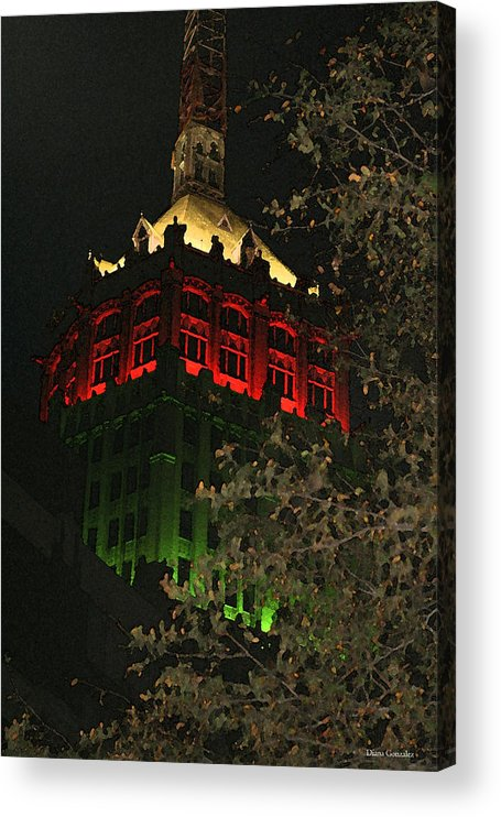 Christmas Acrylic Print featuring the drawing Christmas Spirit by Diana Valadez