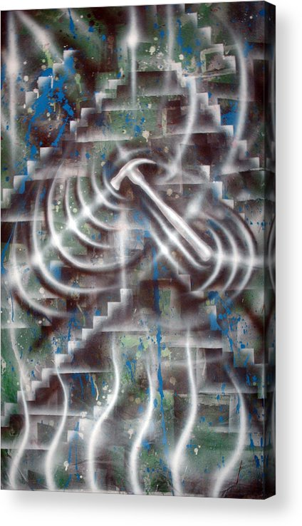 Paint Acrylic Print featuring the painting Construction by Leigh Odom
