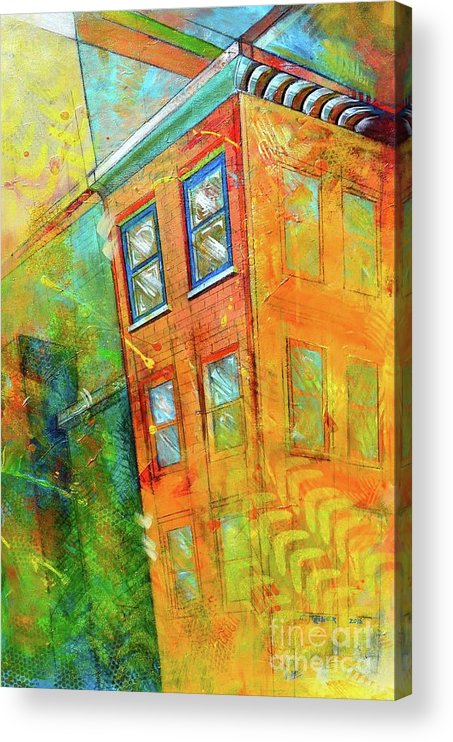Building Acrylic Print featuring the painting Cornice by Christopher Triner