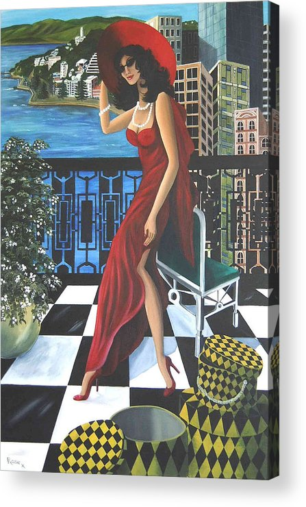 Art Deco Acrylic Print featuring the painting Courtenay by Rosie Harper