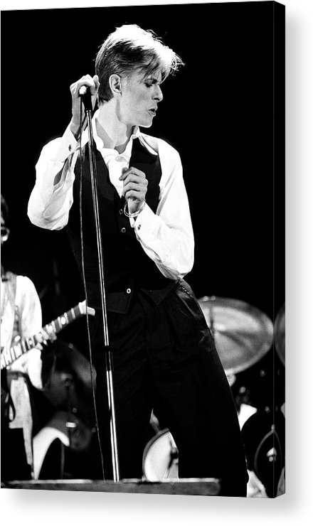 David Bowie Acrylic Print featuring the photograph David Bowie 1976 #2 by Chris Walter
