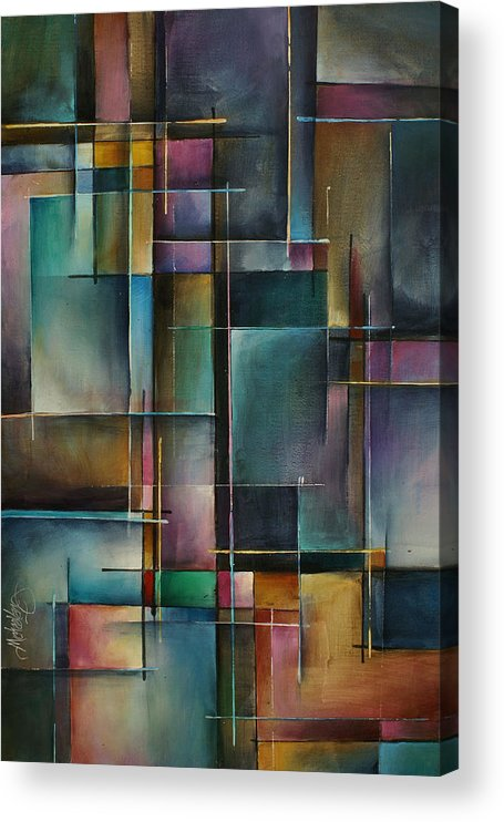 Abstract Acrylic Print featuring the painting Doorway to... by Michael Lang