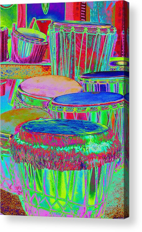 Psychedelic Acrylic Print featuring the photograph Drums of Change by Richard Henne