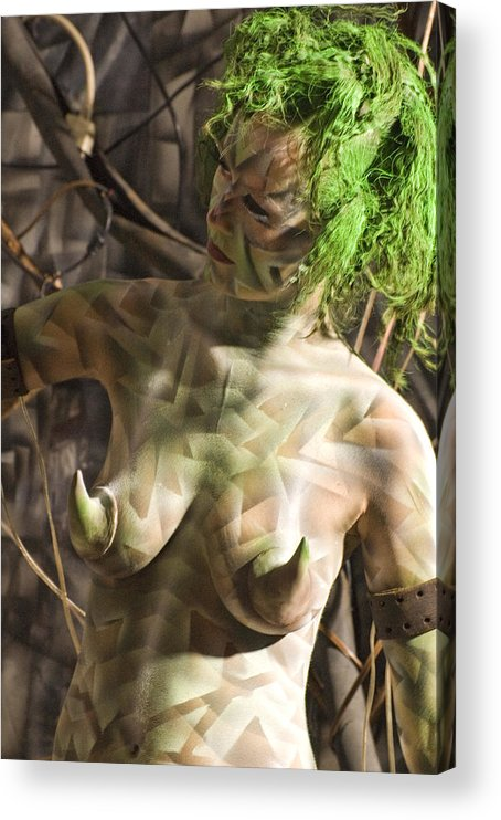 Body Paint Acrylic Print featuring the painting Ellenor Robot by Leigh Odom