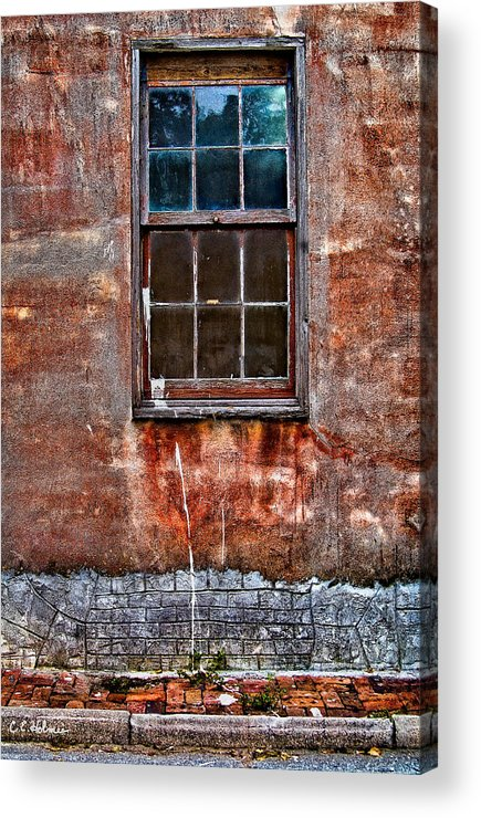 Window Acrylic Print featuring the photograph Faded Over TIme by Christopher Holmes