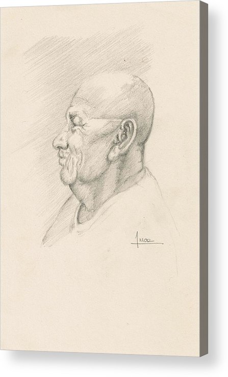 Portrait Acrylic Print featuring the drawing Fer by Victor Amor