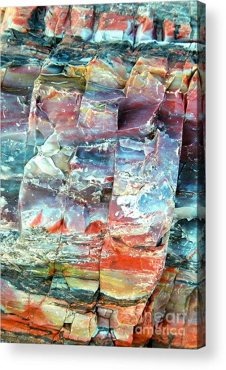 Rock Acrylic Print featuring the photograph Geologist's rainbow by Frank Townsley