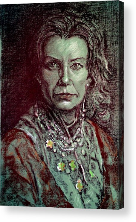 Portrait Acrylic Print featuring the painting Greenwich Gypsy by Dan Earle