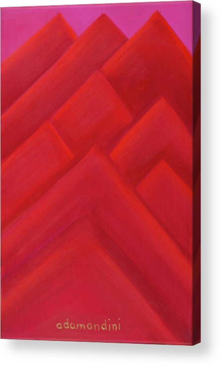 He Tu Acrylic Print featuring the painting He Tu Fire by Adamantini Feng shui