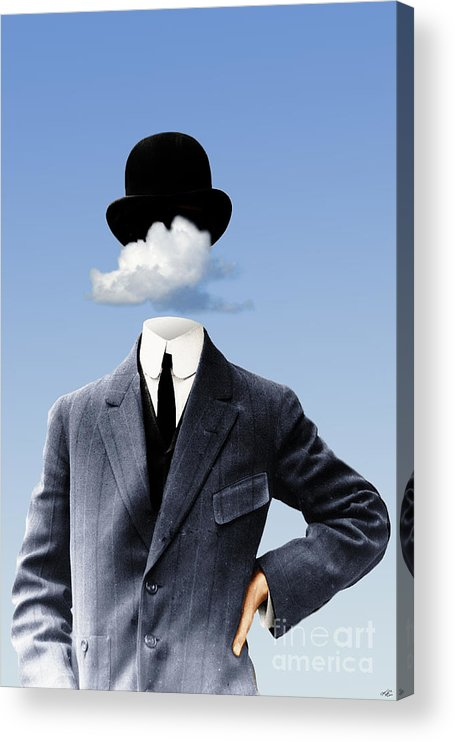 head In The Clouds Acrylic Print featuring the digital art Head In The Clouds by Kenneth Rougeau