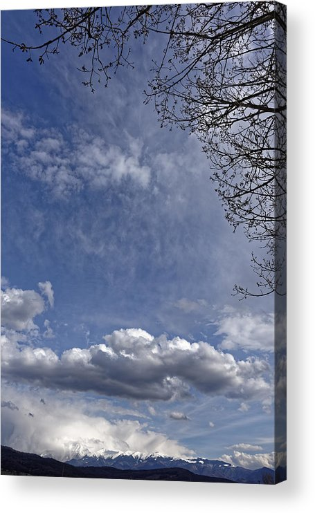 Abstract Acrylic Print featuring the photograph Herd of clouds on the sky over Fagaras Mountains Romania by Adrian Bud