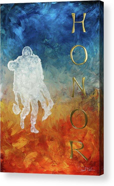 Paul Tokarski Acrylic Print featuring the painting Honor by Paul Tokarski