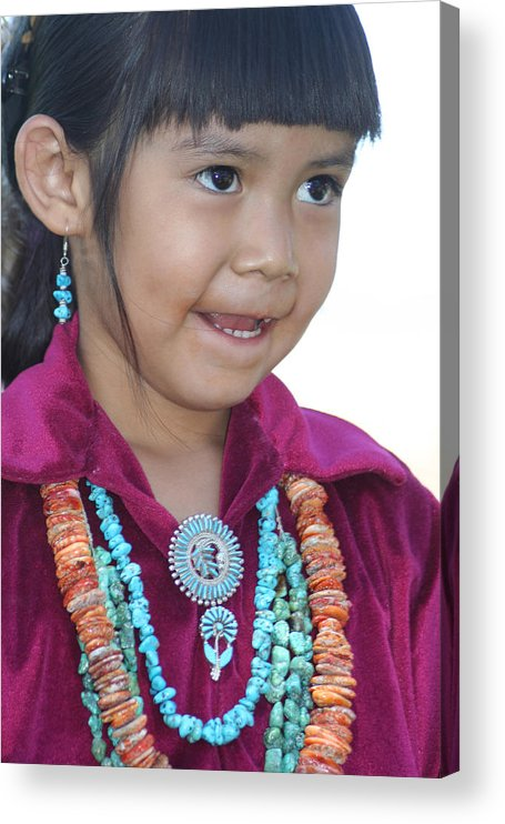 Girl Acrylic Print featuring the photograph Indian Girl by Carl Purcell