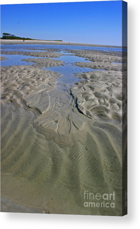 Sand Acrylic Print featuring the photograph Inlet Tidal Pool by Beebe Barksdale-Bruner