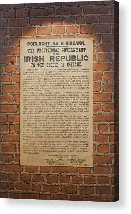 Ireland Acrylic Print featuring the painting Irish Republic 1916 Proclamation of Independence by Brian McCarthy