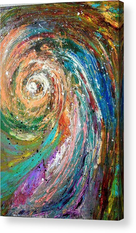 Spinning Colors Acrylic Print featuring the painting Joy by Valerie Josi