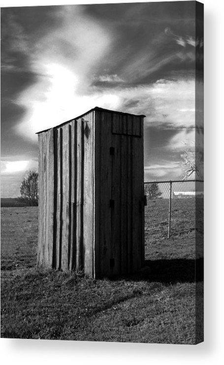 Ansel Adams Acrylic Print featuring the photograph Koyl Cemetery Outhouse by Curtis J Neeley Jr