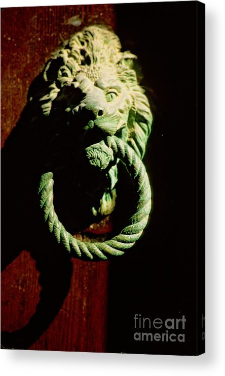 Venice Acrylic Print featuring the photograph Lion Door Knocker in Venice by Michael Henderson