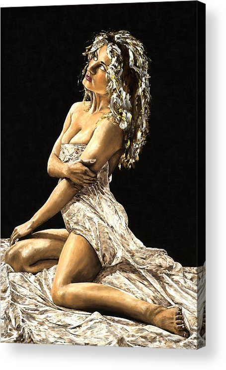 Nude Acrylic Print featuring the painting Luminous by Richard Young