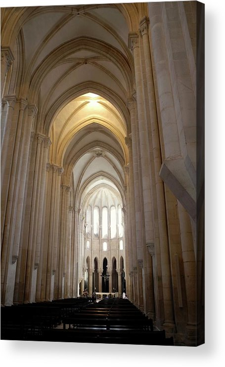 12th C. Church Of Santa Maria Acrylic Print featuring the photograph Majestic Gothic Cathedral in Portugal by Kirsten Giving
