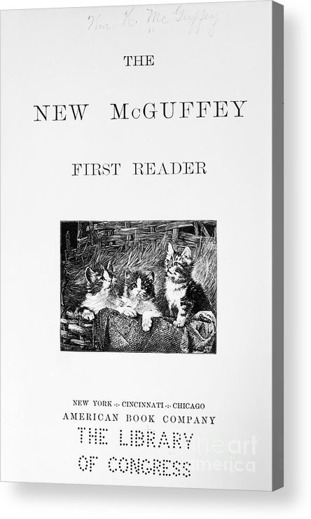 1901 Acrylic Print featuring the photograph Mcguffeys Reader, 1901 by Granger