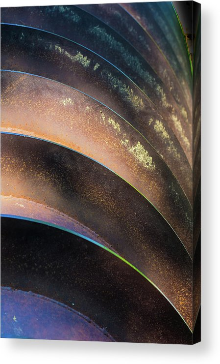 Metal Acrylic Print featuring the photograph Metal Spiral Right by Lea Rhea Photography