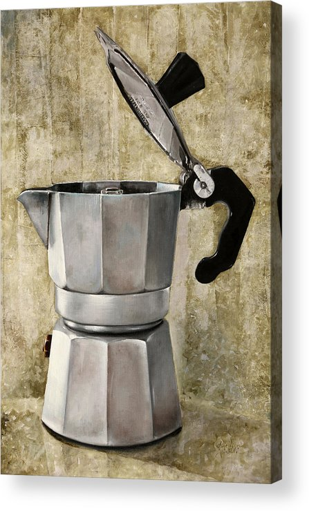 Cofeescape Acrylic Print featuring the painting Moka by Guido Borelli