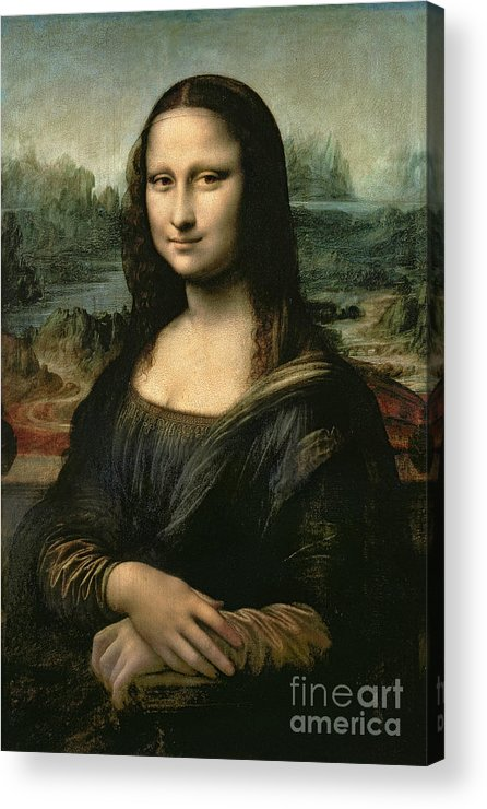 Mona Acrylic Print featuring the painting Mona Lisa by Leonardo da Vinci