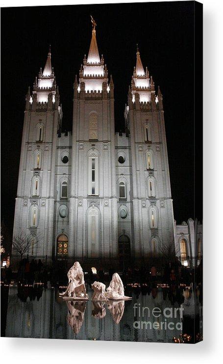 Christmas Acrylic Print featuring the photograph Mormon Nativity by Joshua Francia