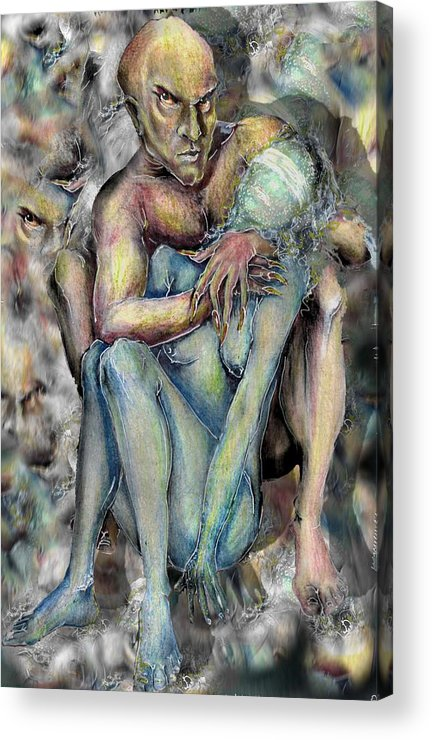 Demons Love Passion Control Posession Woman Lust Acrylic Print featuring the mixed media My Precious by Veronica Jackson