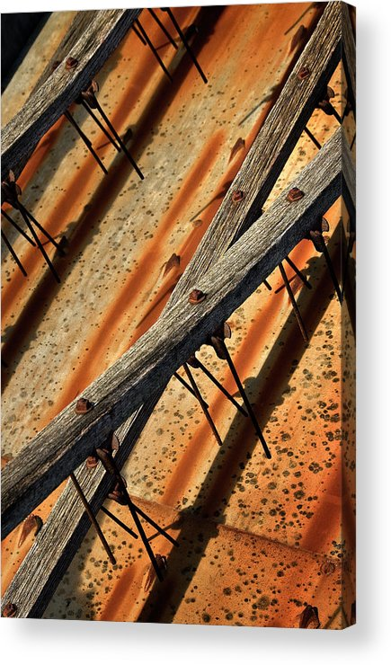Machine Acrylic Print featuring the photograph Needles and Wood by Murray Bloom