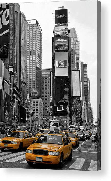 Manhattan Acrylic Print featuring the photograph NEW YORK CITY Times Square by Melanie Viola