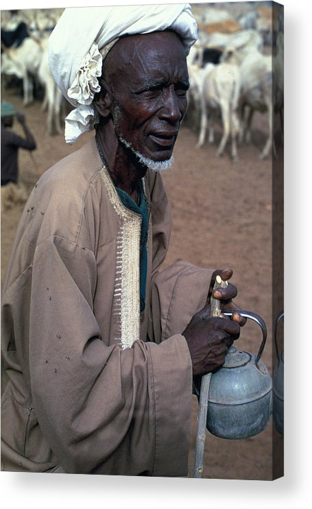 Turban Acrylic Print featuring the photograph Nomad in Senegal by Carl Purcell