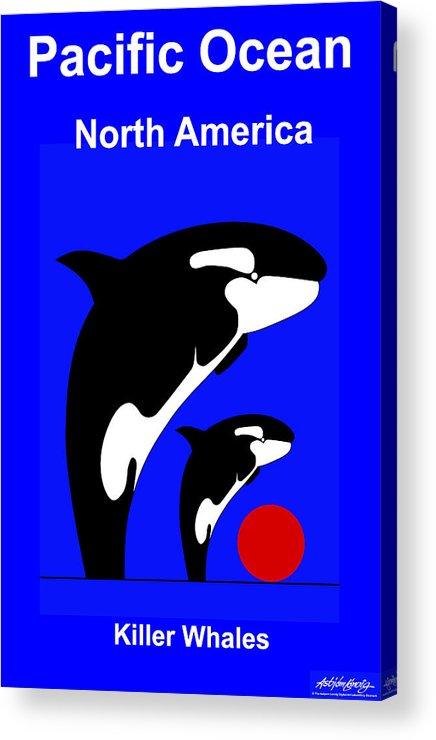 Acrylic Print featuring the digital art Pacific Ocean - North America by Asbjorn Lonvig