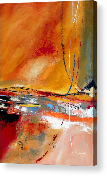 Abstract Acrylic Print featuring the painting Party Lines by Ruth Palmer