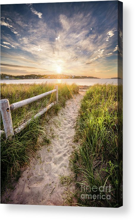 Attraction Acrylic Print featuring the photograph Path to Popham by Benjamin Williamson