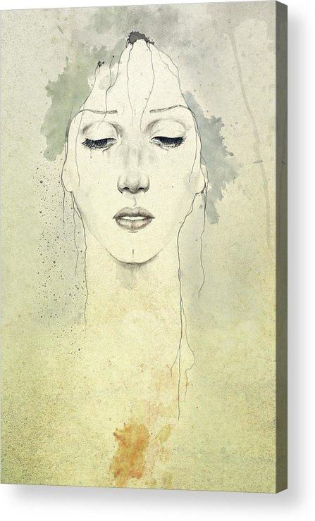 Raining Acrylic Print featuring the digital art Raining by Diego Fernandez