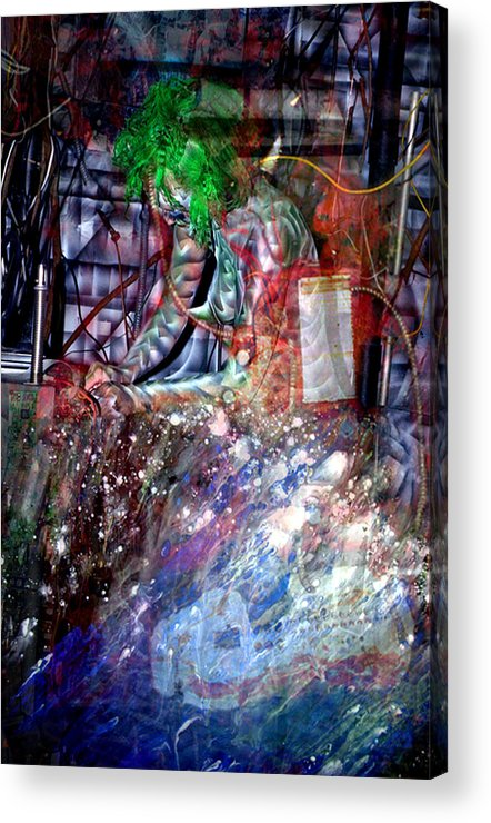 Morph Acrylic Print featuring the painting Re-Programming II by Leigh Odom