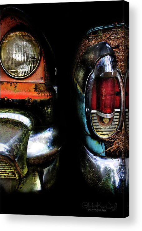 Vintage Car Acrylic Print featuring the photograph Roommates by Glenda Wright