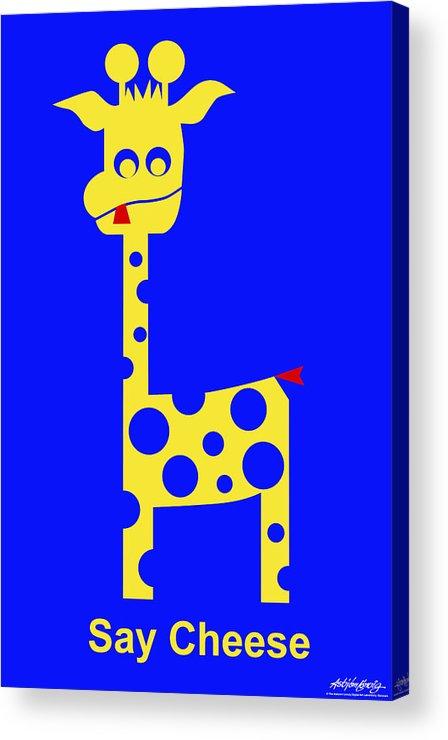 Acrylic Print featuring the digital art Say Cheese by Asbjorn Lonvig