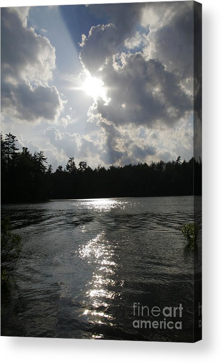 Lake Acrylic Print featuring the photograph Shadow of the Sun by Joshua Francia