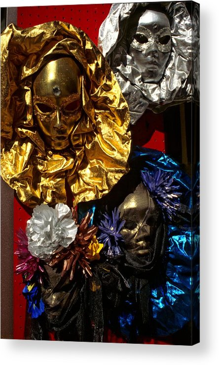 Venice Acrylic Print featuring the photograph Shiny Masks in Venice by Michael Henderson