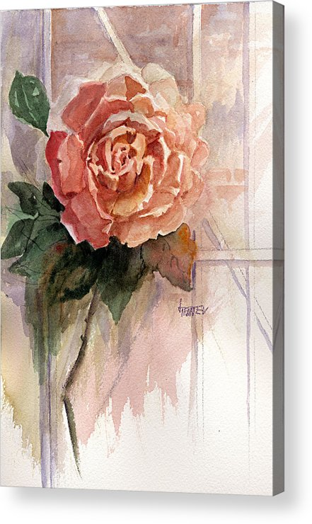 Floral Acrylic Print featuring the painting Shirley by Jimmie Trotter